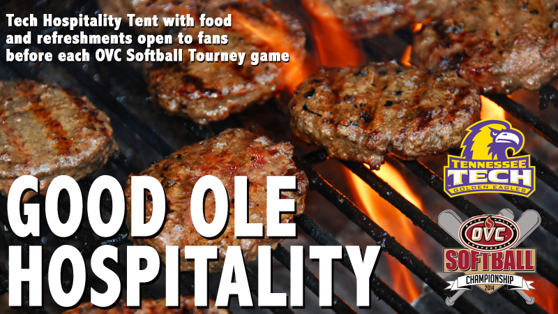Fans, friends invited to Hospitality Tent during Tech games at OVC Softball Tournament