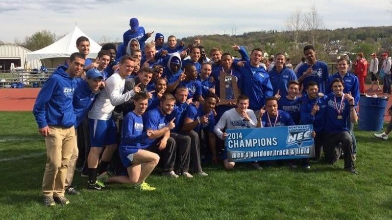 Men's Track Wins First NEC Outdoor Championship