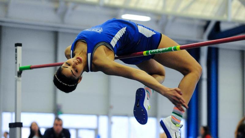 Saunders Defends HJ Title at NECs; CCSU Finishes 7th