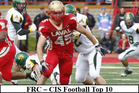 FRC – CIS Football Top 10 (#5): Laval remains No. 1, Western wins Top-10 battle