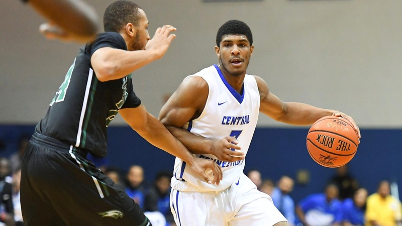 Men's Basketball Clamps Down Bryant, 64-59, Saturday