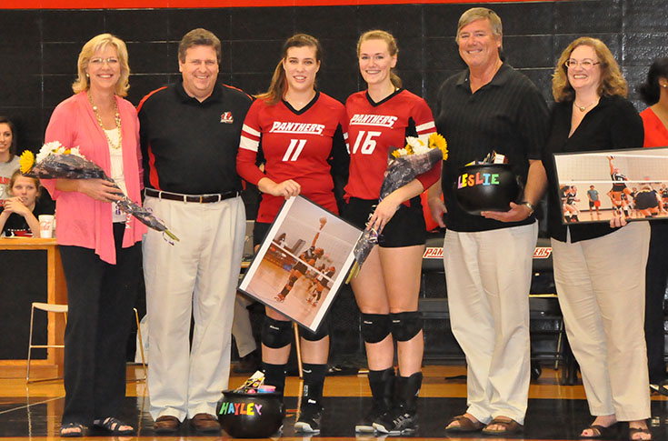 Volleyball: Panthers celebrate Senior Night with win over Huntingdon