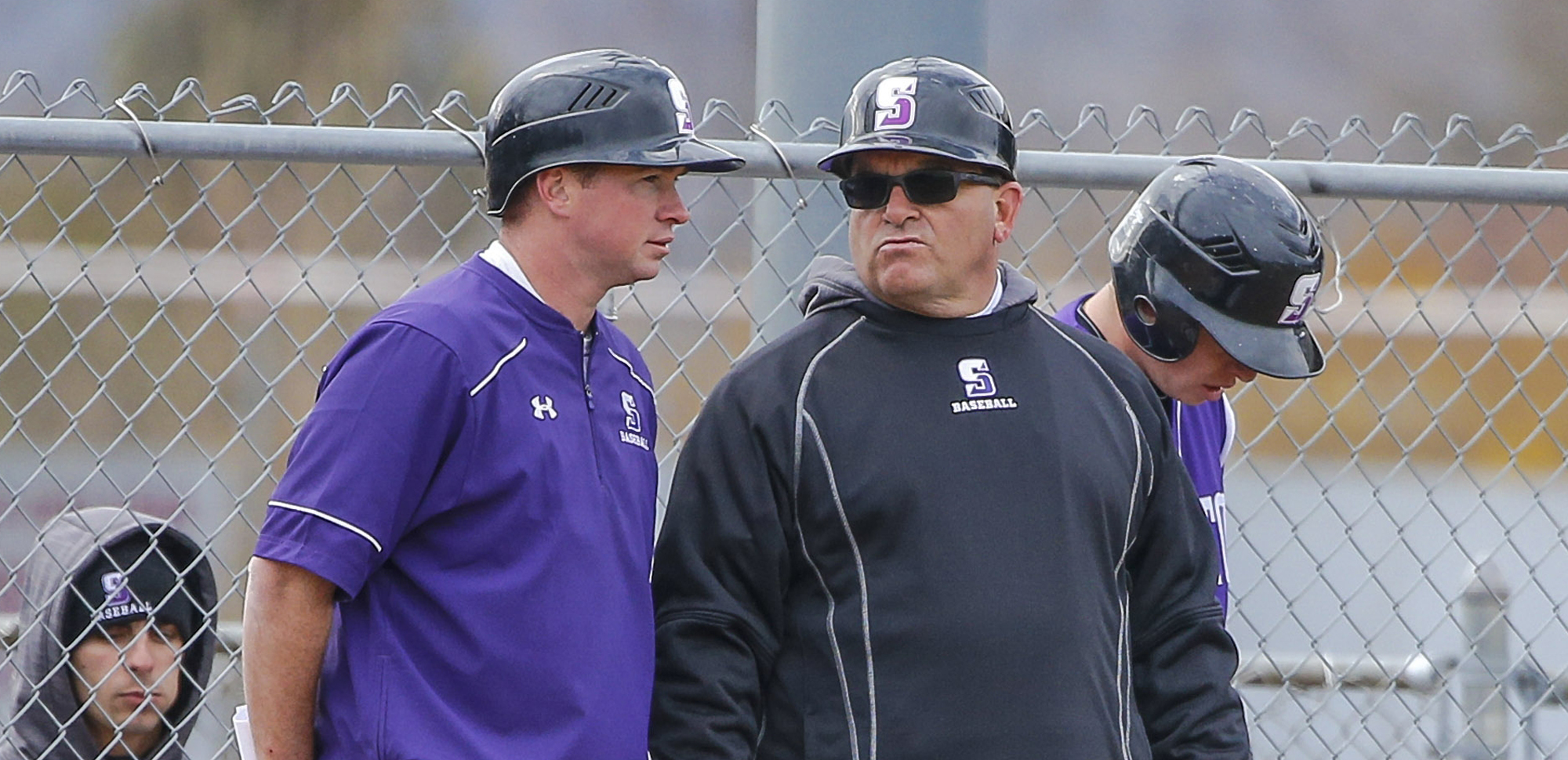 Head baseball coach Mike Bartoletti, right, has been named full-time baseball coach/athletics facilities manager.