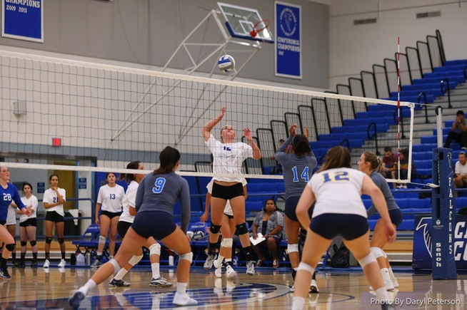 File Photo: Brooke Winquist helped lead the Falcons with 11 kills in their four-set win