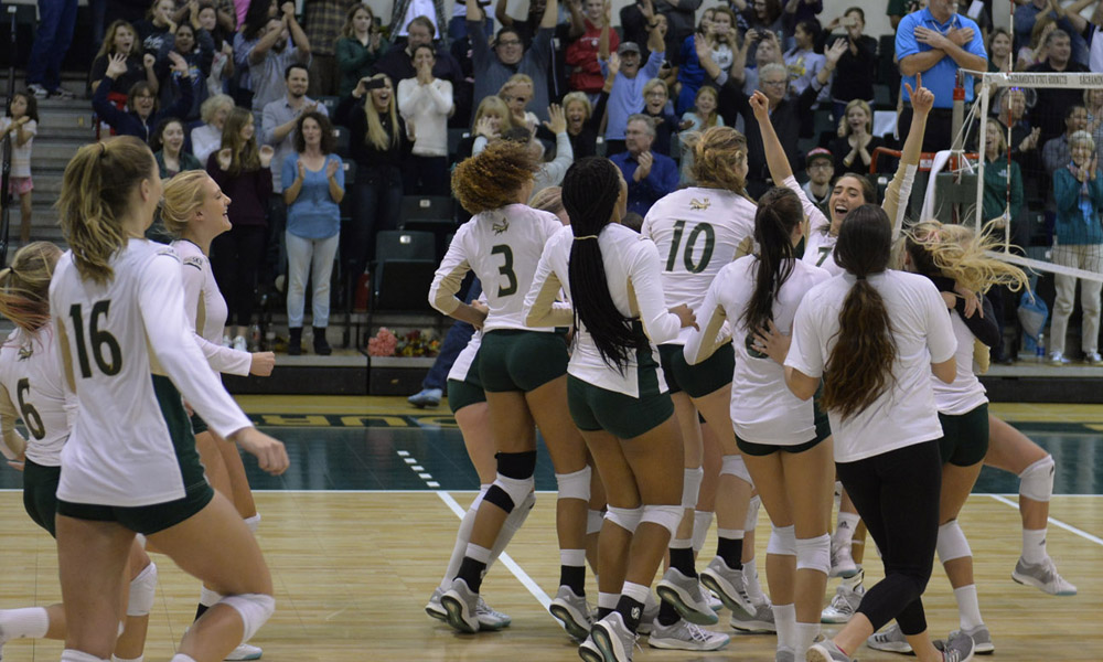 VOLLEYBALL COMES BACK TO BEAT PORTLAND STATE, WINS BIG SKY REGULAR SEASON TITLE!