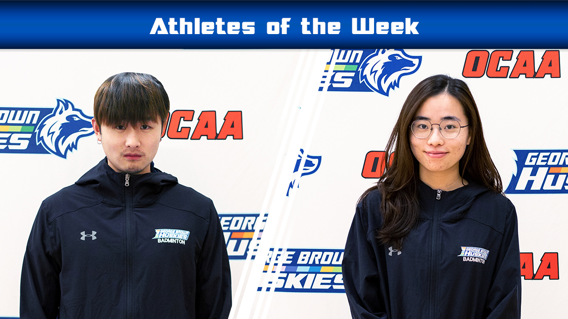 Week 11 athletes of the week Ace Zeng and Anh Hoang