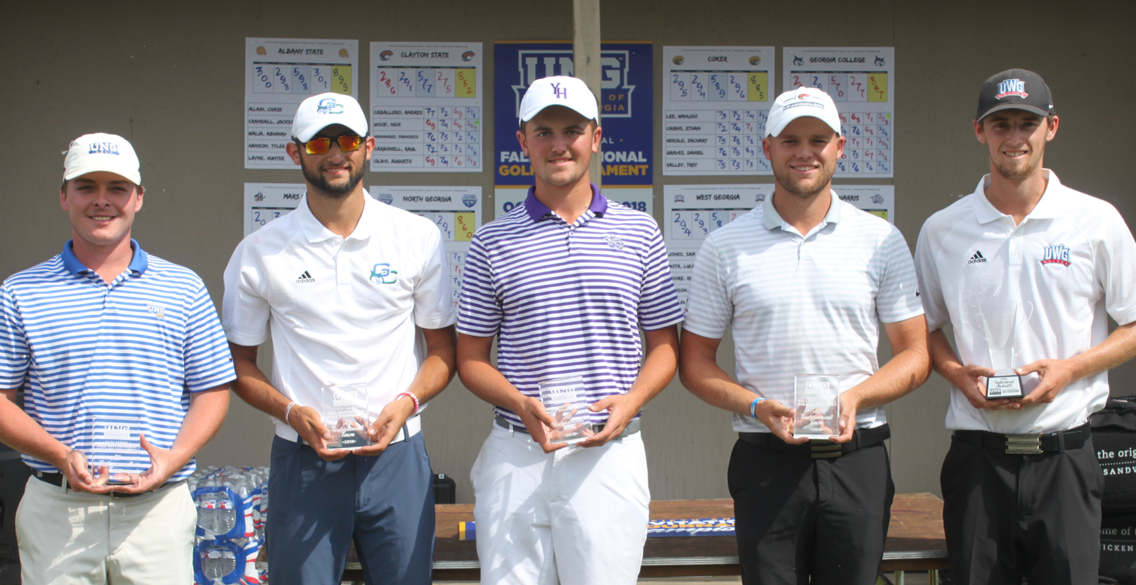 Junior Austin Mancilla [second from left] earns a spot on the All-Tournament Team.