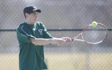 Tennis Edges the Blue Knights in Conference Win