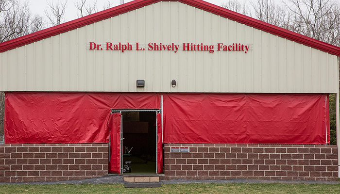 front entrance of the hitting facility