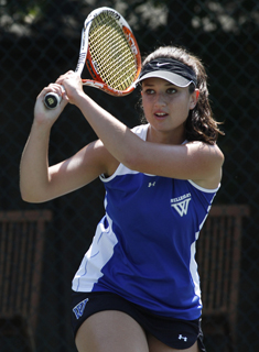 Blue Tennis Rolls to 8-1 Win over Springfield