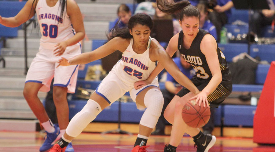 Dejanae Roebuck and the Blue Dragon women's basketball team takes on Pratt at 5:30 p.m. on Wednesday in the Sports Arena. (Joel Powers/Blue Dragon Sports Information)