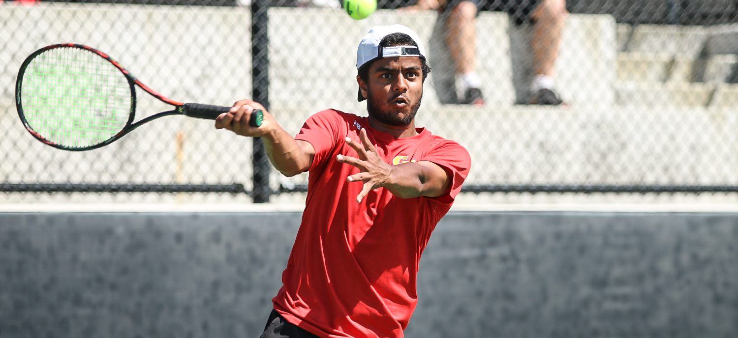 Avinash Vemuri earned a 7-5, 6-3 victory at #5 singles against UC Santa Cruz on Friday.