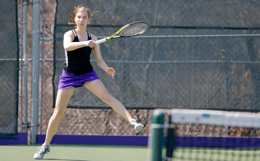Sophomore Emily Walsh leads the women's tennis team into the NCAA Tournament after earning Landmark Conference playoff MVP honors.