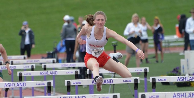 Huebner leads heptathlon; Dorr claims all-american honors on day one of NCAA Championships