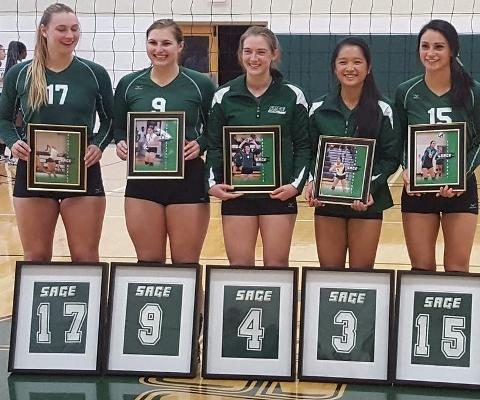 Volleyball honors Seniors on Saturday in Skyline Tri-Match