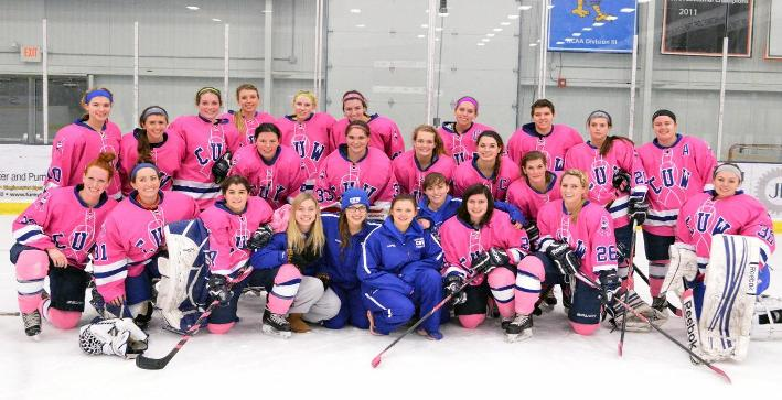 Three first-period goals guide Women's Hockey to win over Marian