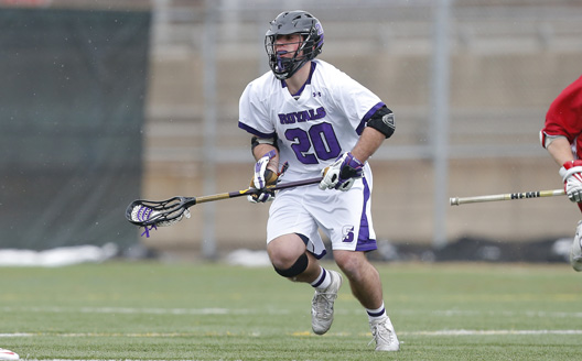 Sophomore midfielder Matt Finor won 12 of 15 face-offs today to help the Royals to their sixth straight win, an 11-3 victory over the Merchant Marine Academy.  Scranton is now 3-0 in the Landmark Conference.