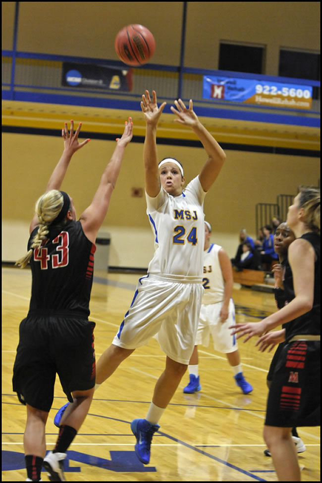 Mount women's basketball edged by Manchester University, 58-49