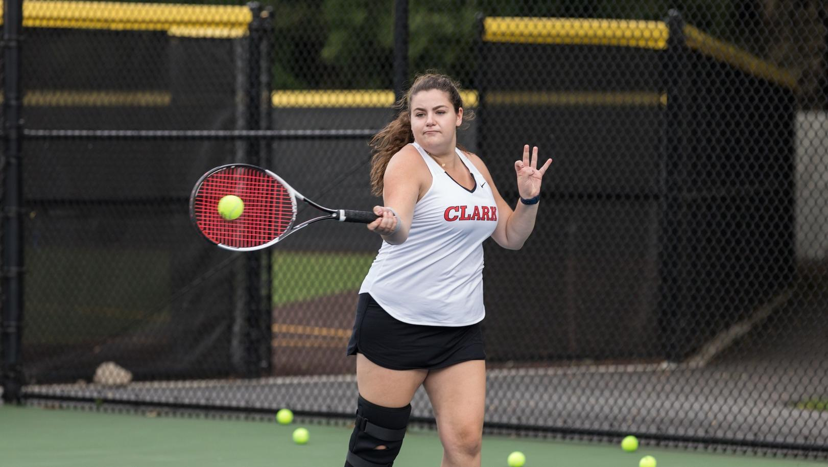 Nationally Ranked Babson Downs Women's Tennis in NEWMAC Match