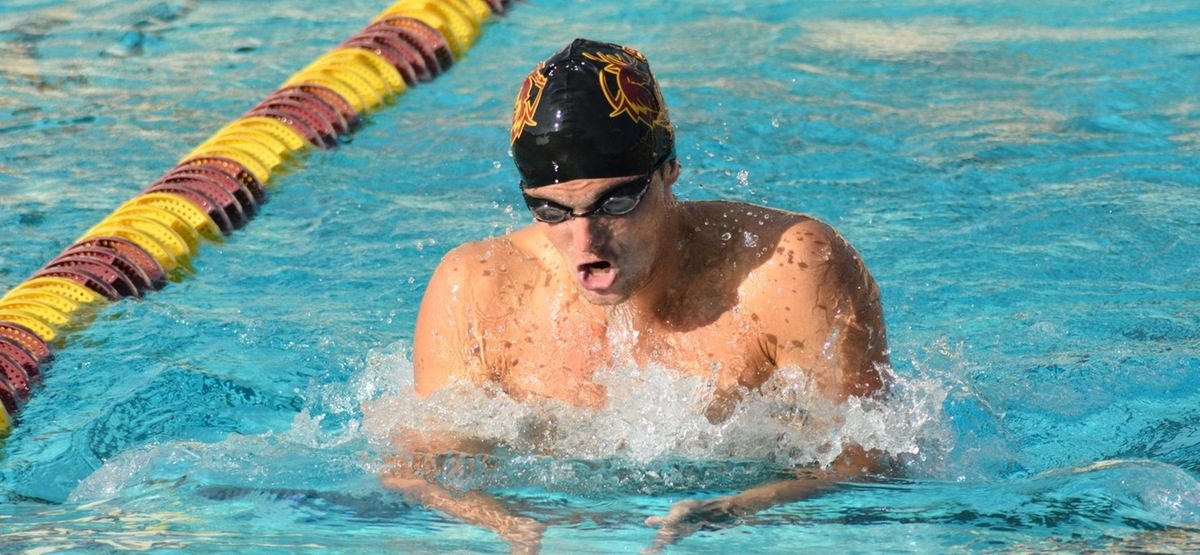 Senior Jackson Crewe was one of eight Stags to win an event, taking the 200 IM