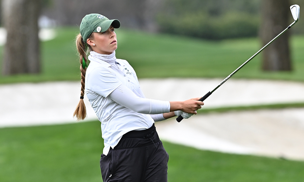 WOMEN'S GOLF MOVES UP AS WINDS AND SCORES SOAR IN SECOND ROUND OF CLE ELUM REGIONAL