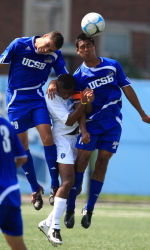 UCSB Men's Soccer Team Hands Down Soccer Skills