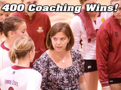 Volleyball Head Coach Tia Brandel-Wilhelm Records Her 400th Career Win