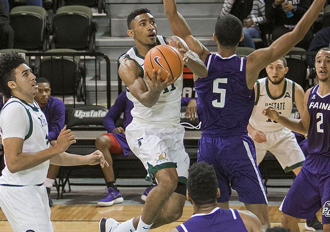 Holmes, Moore Lead USC Upstate to 91-79 Victory over Stetson