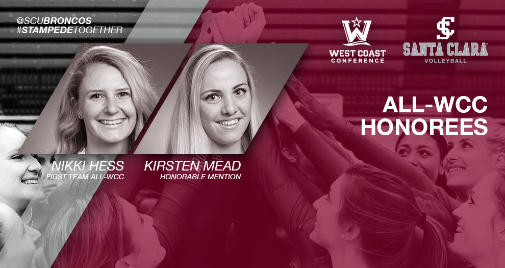 Hess Named First Team All-WCC for Third Time; Mead Named Honorable Mention