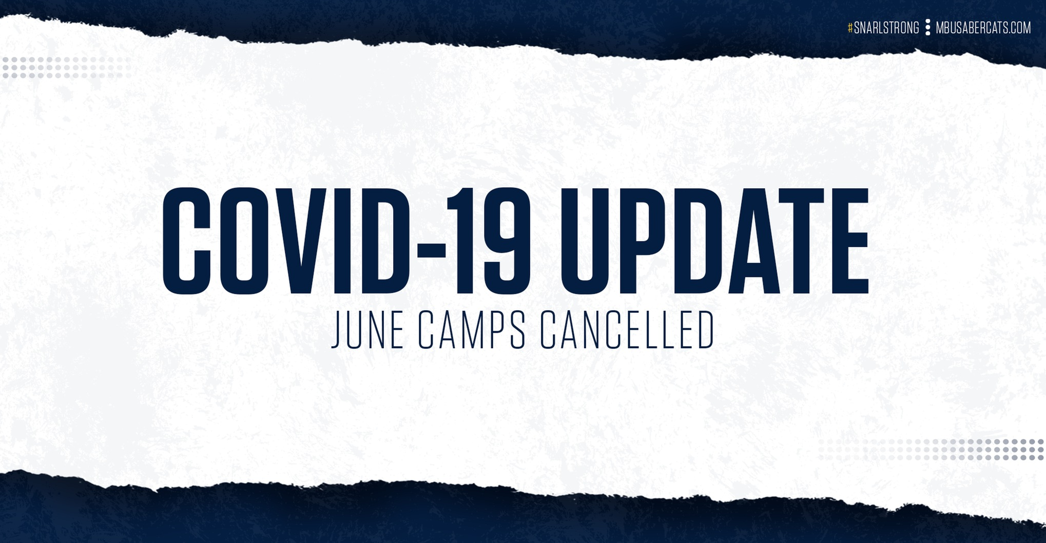 June Camps Cancelled