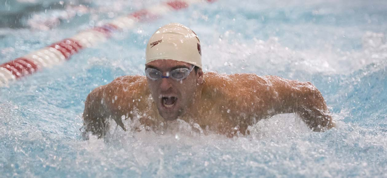 Men's Swimming and Diving Competes in Tri-Meet with URI and Coast Guard