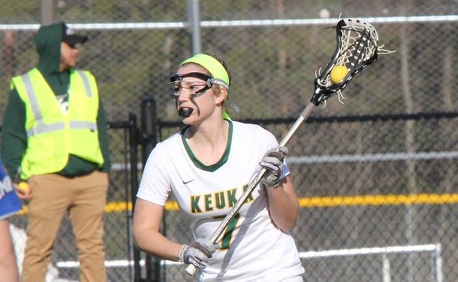 Vera Freda (7) scored her first two collegiate goals on Tuesday for Keuka College -- Photo by Ed Webber