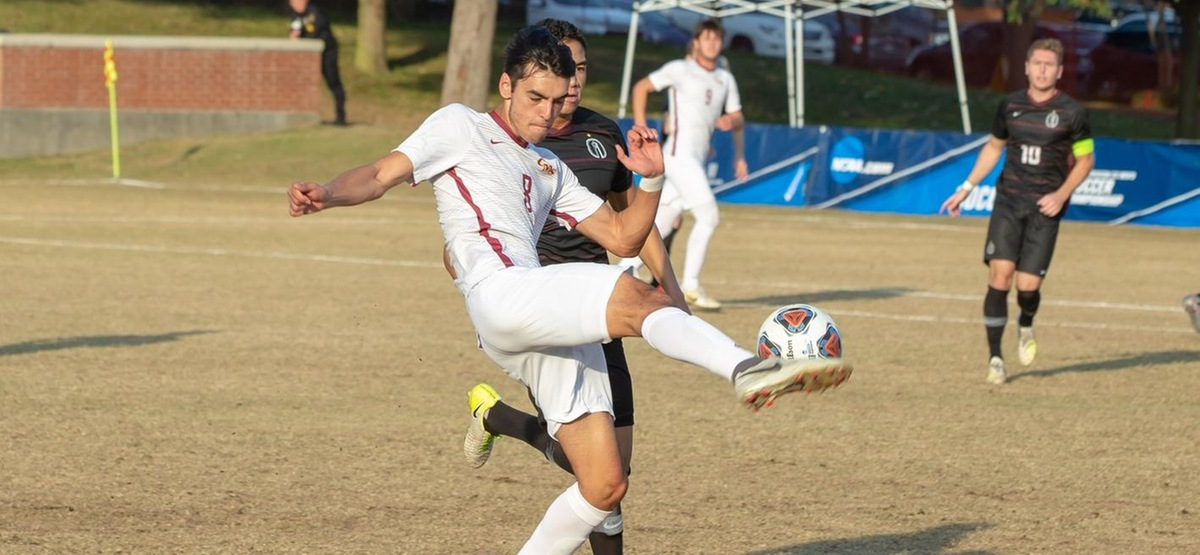 Samay Rahim's first goal of the season helped seal a 2-0 win (photo courtesy of Trinity University)
