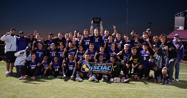 Second-Seed Cal Lutheran Secures 2017 SCIAC Men's Soccer Tournament Title