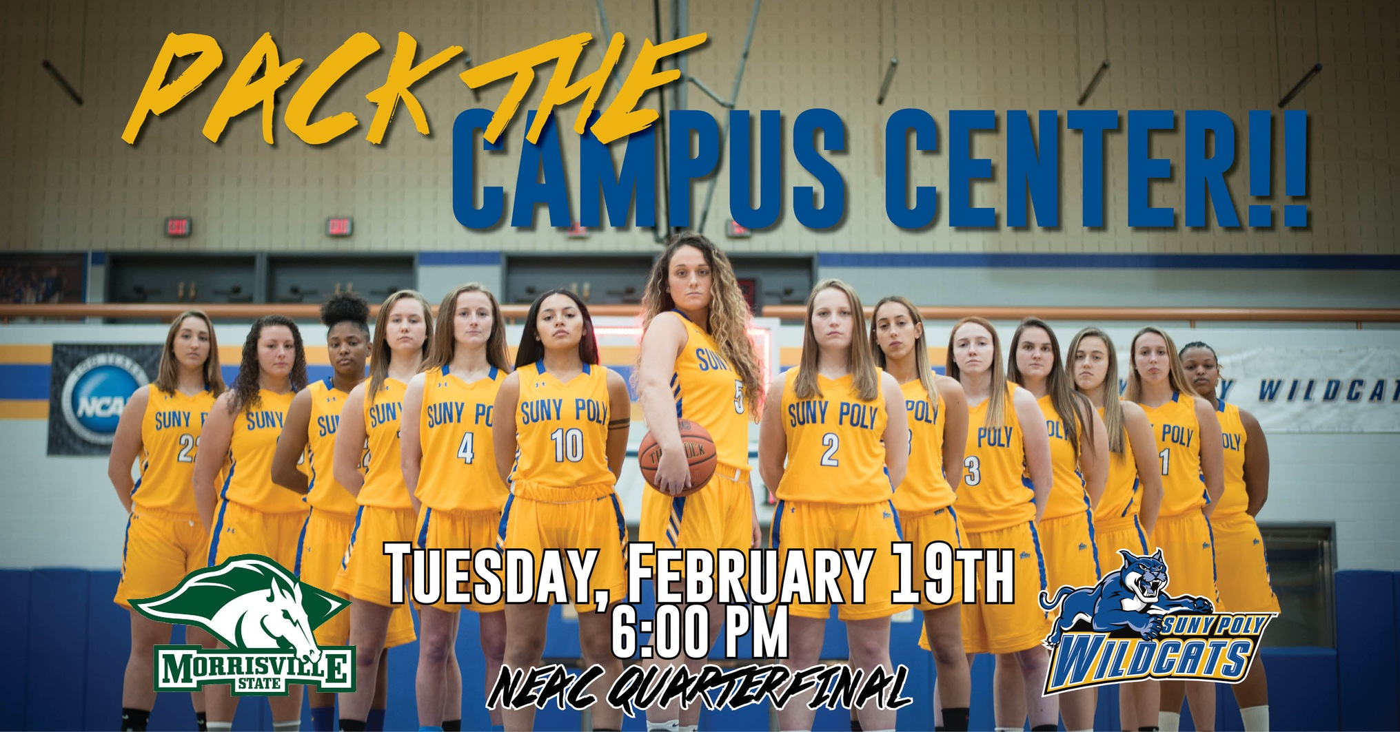 WBB: Wildcats to Host NEAC Quarterfinal Game on Tuesday Against Morrisville State.