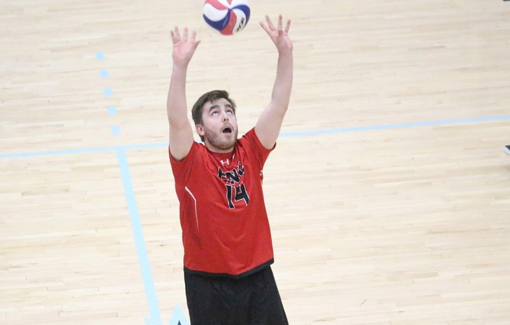 Men's Volleyball Falls at Elms in NECC Semifinals