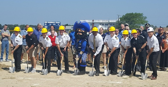 Massachusetts Maritime Breaks Ground On Artificial Turf Installation Project At Commodore Hendy Field