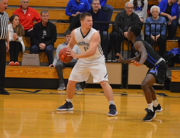 Balanced Attack Leads to Close Loss for Westminster Men's Basketball at No. 10 Wash U