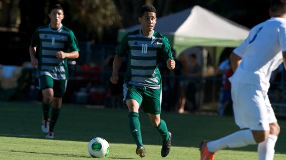 MEN'S SOCCER BATTLES No. 17 UC SANTA BARBARA BUT FALLS 2-1