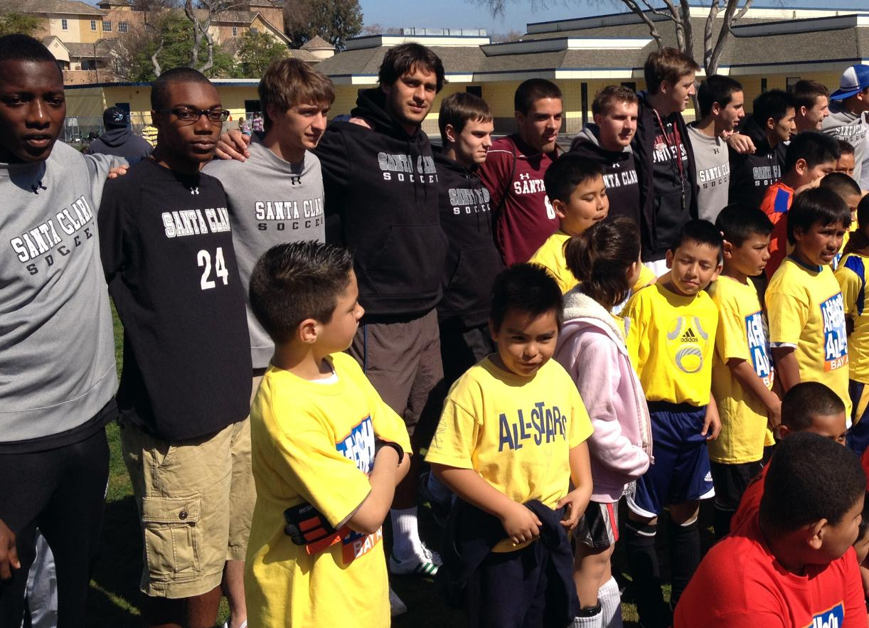 SCU Men's Soccer Initiates Community Service Project in Conjunction with Bay Area After-School All-Stars