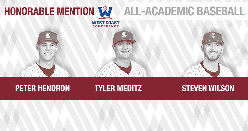 Three Baseball Players Receive WCC All-Academic Honors