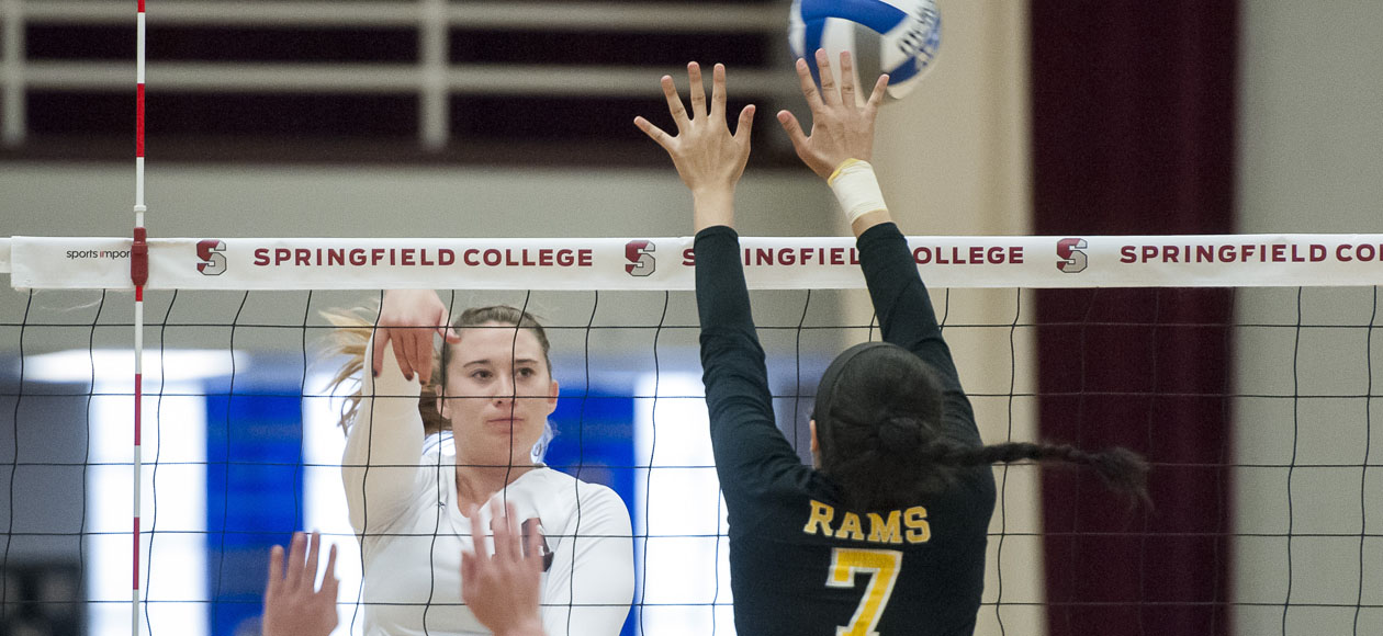 Helgesen and Holt Power Women's Volleyball Past Haverford and Stevens