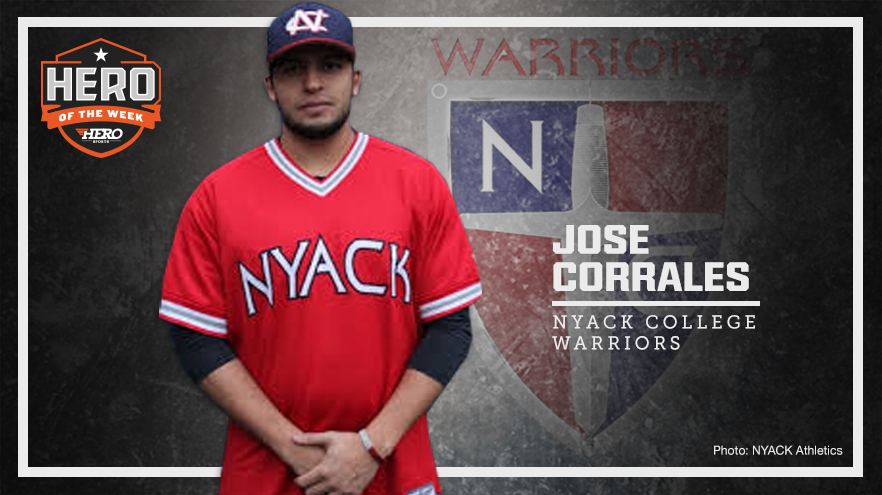 Jose Corrales Named D2 Baseball HERO of the Week