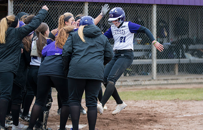 Softball Swept by Southern New Hampshire, Drops Opener in Eight Innings