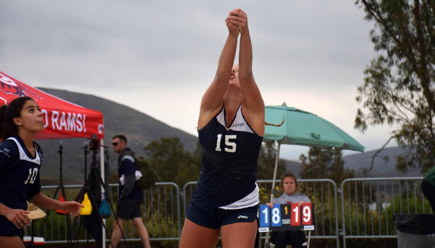 Women's beach volleyball team finishes tied for third in state