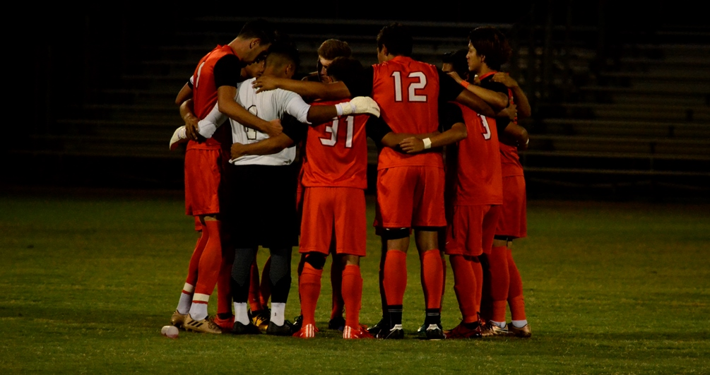 The No. 5 ranked Aztecs men's soccer team suffered their first loss since Aug. 29 as they lost 2-0 at No. 14 ranked Arizona western College. The Aztecs did claim the ACCAC conference title and the No. 1 seed for the NJCAA Region I, Division I Tournament. They finished the regular season at 15-2-3. Photo by Ben Carbajal.