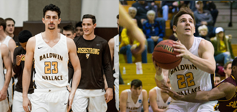 Senior forward Alex Nahra and junior guard Luke Schaefer (Photo Courtesy of Alec Palmer)