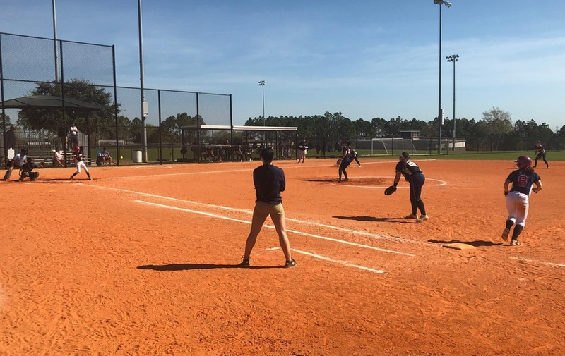 Softball Comes up Short on Day 1 of Florida Trip