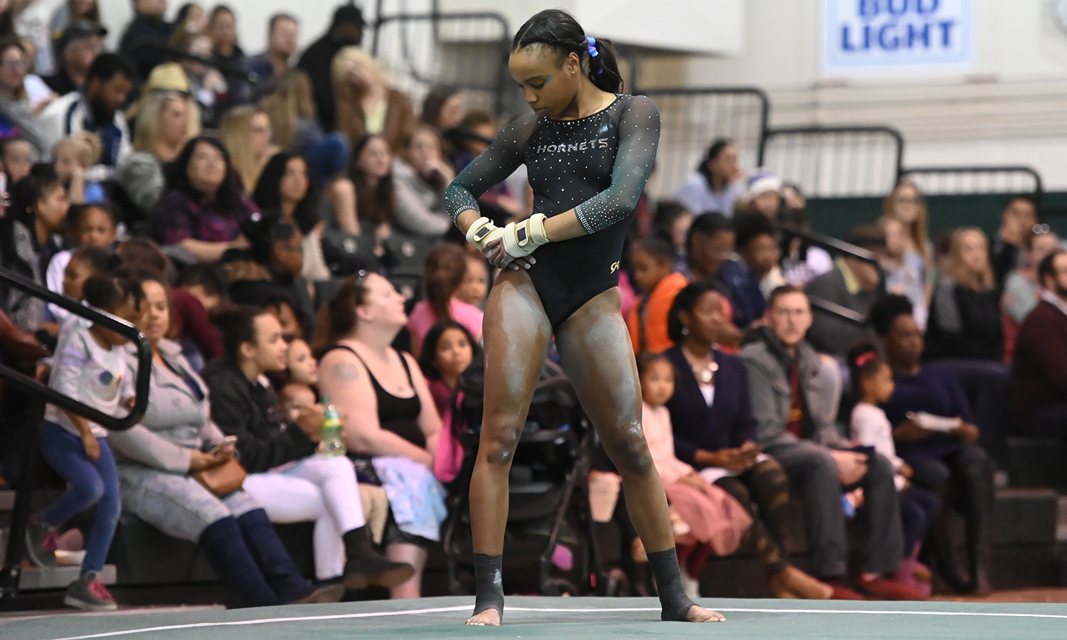 GYMNASTICS RECORDS SEASON HIGHS AND PAIR OF INDIVIDUAL WINS
