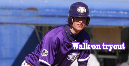 Baseball to hold walk-on tryouts September 20th.